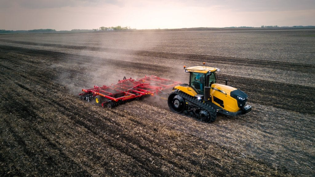 Challenger-MT743-with-Sunflower-6830-Tillage-DJI-0446