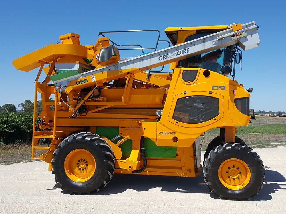 Gregoire G9 Grape Harvester Stockist Serafin Ag Pro Griffith